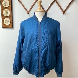Vintage Montage 100% Silk Bomber